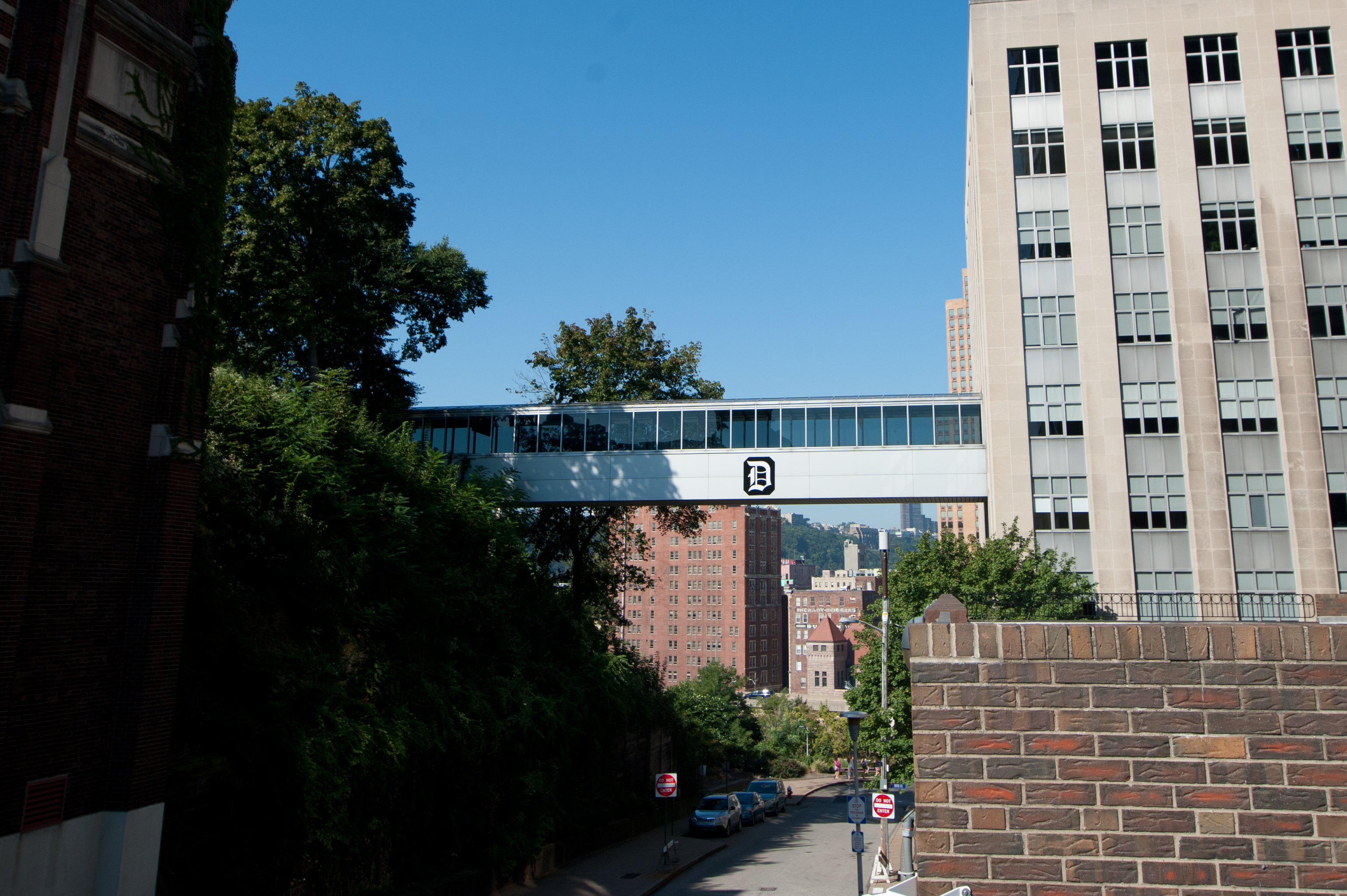 Rockwell Hall Skywalk Street View, Duquesne University