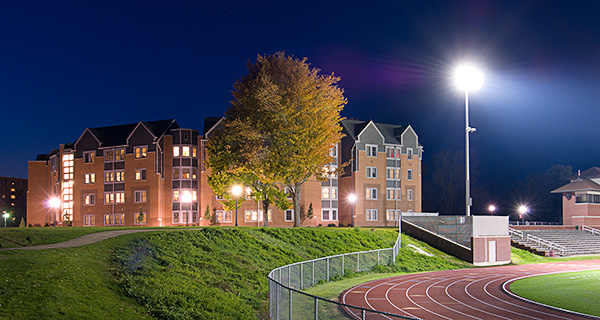 Colonial Hall Exterior, Night, Field View