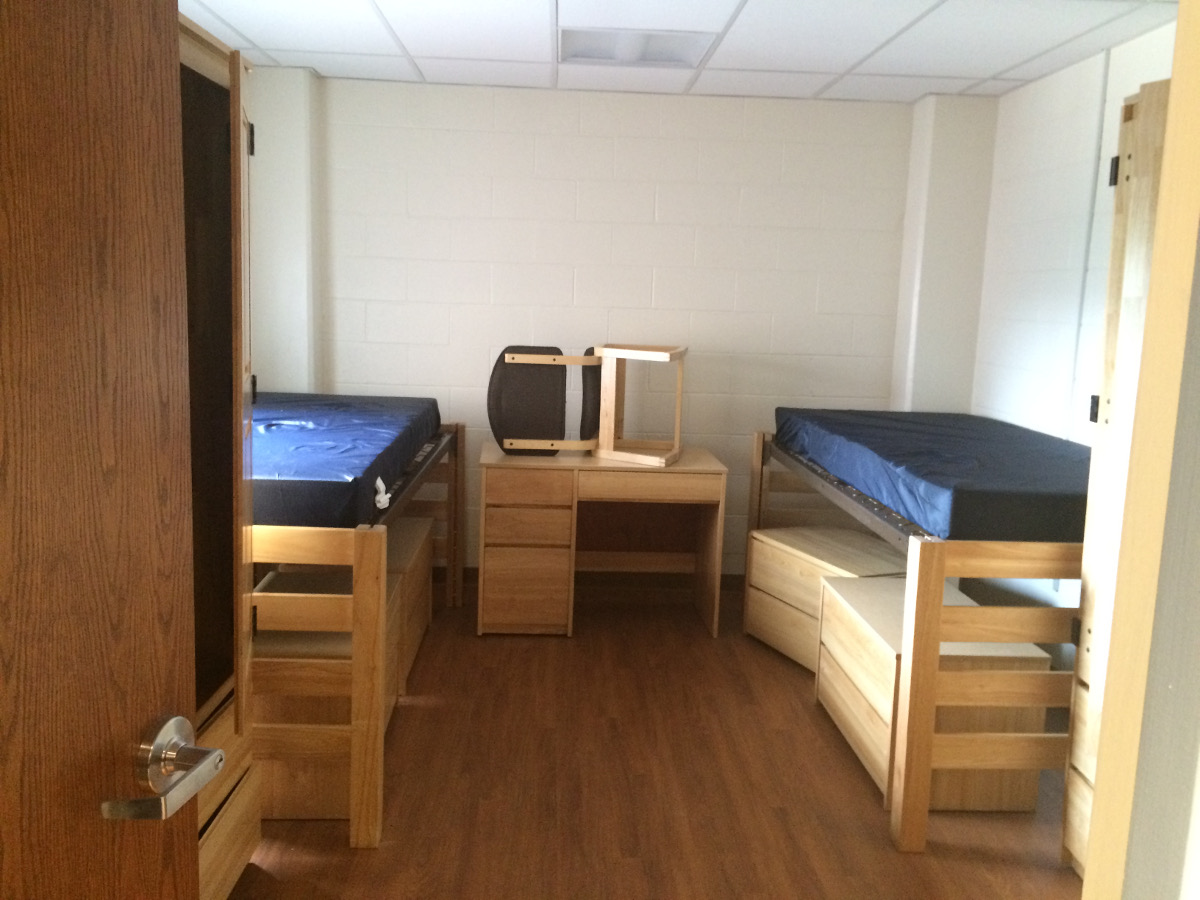 Student Room, Beds, Dressers, Desk