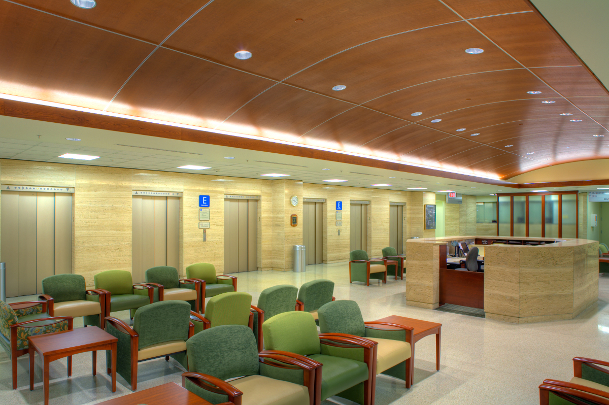 Interior photos of Allegheny General Hospital Snyder Lobby