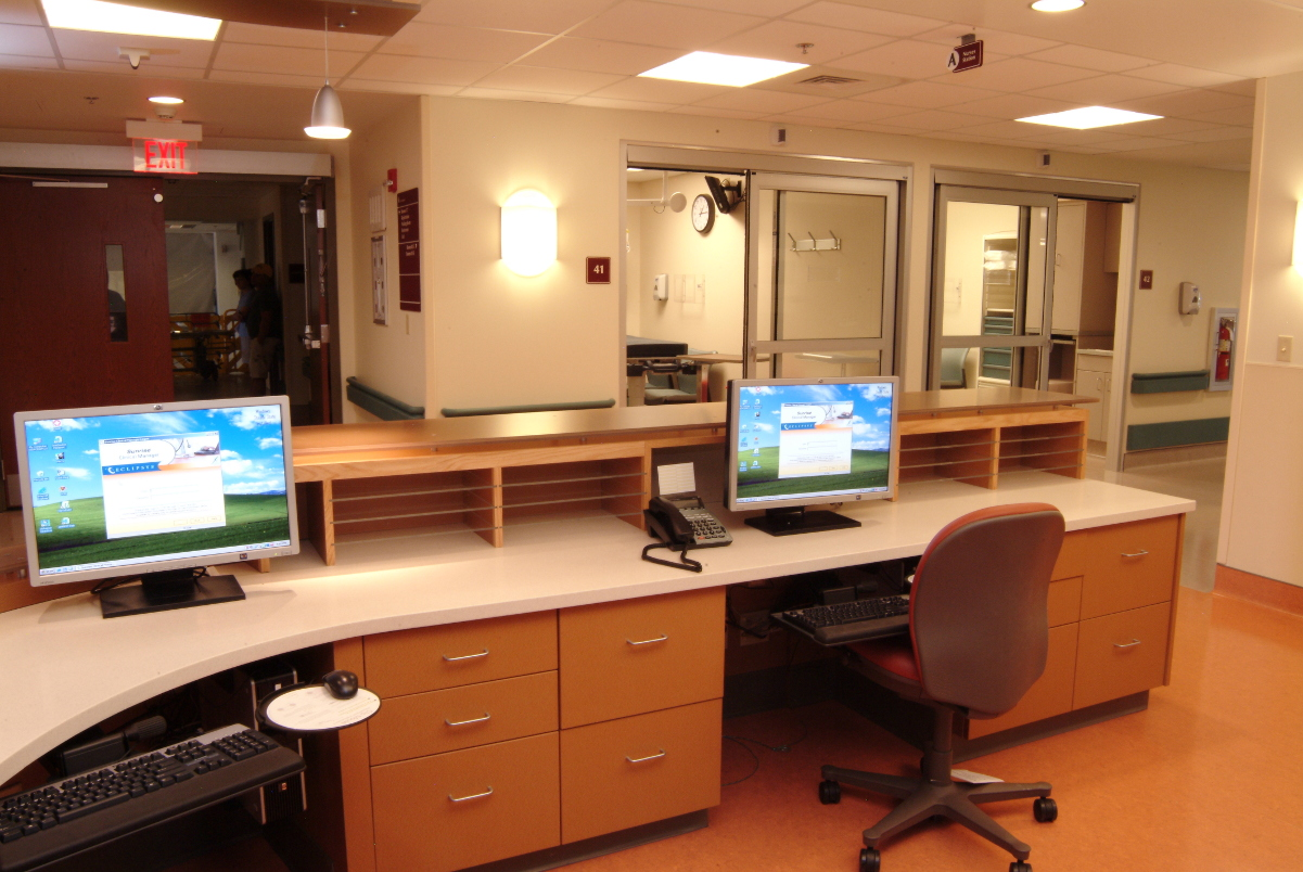 St. Clair Hospital Nurse Station computers