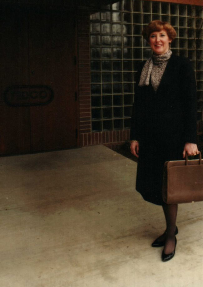 Barbara Frantz at the Carnegie location of TEDCO Construction Corporation.