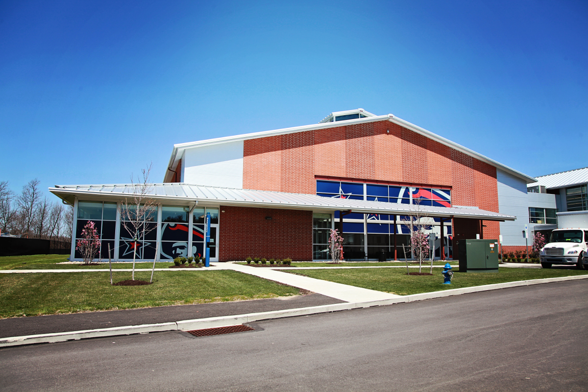 RMU Student Rec Center Front Basketball Court View
