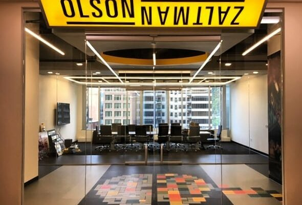 the entrance to Olson Zaltman